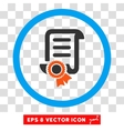 Certified Scroll Document Eps Rounded Icon vector image vector image