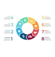 circle arrows infographic cycle diagram vector image vector image