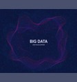 circular visualization of big data artificial vector image
