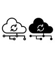 cloud synchronization line and glyph icon network vector image vector image