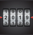 combination code lock numbers happy new year vector image