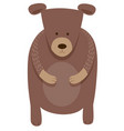 cute bear cartoon animal character vector image