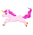 Cute unicorn cartoon running vector image vector image