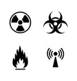 danger simple related icons vector image vector image