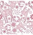 deer seamless pattern vector image vector image
