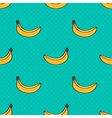 Doodle banana seamless pattern background vector image vector image
