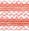 Ethnic pattern hand painted with zigzag vector image