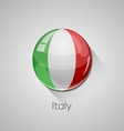 European flags set - Italy vector image vector image