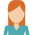 faceless woman with long hair icon vector image vector image