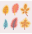 fallen autumn leaves set vector image