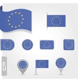 Flag of Europe Union vector image