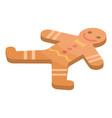 gingerbread icon isometric style vector image