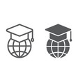 global education line and glyph icon e learning vector image vector image