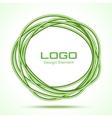 Green Hand Drawn Ware Circle vector image
