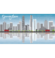 Guangzhou Skyline with Gray Buildings Blue Sky vector image vector image