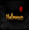 halloween greeting card with lettering and red vector image vector image
