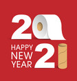 happy new year 2021 inscription numbers vector image