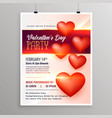 happy valentines day event flyer design template vector image vector image
