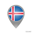 iceland point vector image