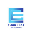 initial letter ce logo template colored blue vector image vector image