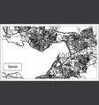 izmir turkey map in black and white color vector image