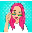 lgbt girl in pop art vector image vector image