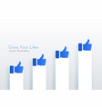 like upward growth chart concept design for vector image