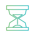 line hourglass object to know the time vector image vector image