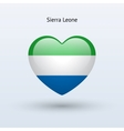 Love Sierra Leone symbol Heart flag icon vector image vector image