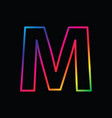 m letter rainbow alphabet logo abstract colorful