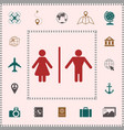 man and woman icon elements for your design vector image