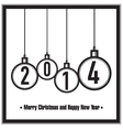 Merry Christmas and Happy New Year vector image vector image