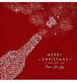Merry christmas happy new year outline bottle deco vector image vector image
