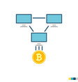 mining pool flat icon vector image vector image