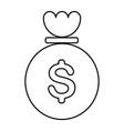 money bag icon image vector image vector image