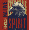 native american poster eagle vector image vector image