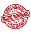 natural ingredients red grunge round vintage vector image vector image