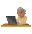old man cartoon vector image