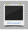 old style photo frame vector image vector image