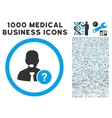 Online Support Icon with 1000 Medical Business vector image vector image