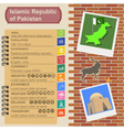 Pakistan infographics statistical data sights vector image vector image