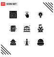 pictograph set 9 simple solid glyphs vector image vector image