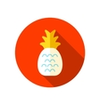 Pineapple flat icon with long shadow vector image vector image