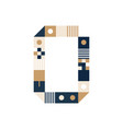 pixel art letter o colorful letter consist of vector image vector image