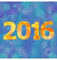 Polygonal New Year Numbers vector image