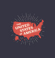 poster map united states america vector image vector image
