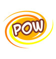 pow icon pop art style vector image vector image