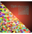 Red Abstract Geometrical Background vector image vector image