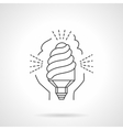 Saving energy lamp flat line icon vector image vector image