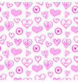 seamless hearts pattern-09 vector image vector image